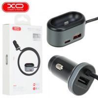 Автомобильное зарядное устройство XO CC29 4in1 QC 3.0 PD 2USB 3A + зарядка для Apple AirPods black