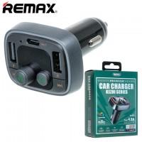 FM модулятор Remax RCC230 2USB 4.8A серый