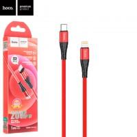 USB кабель Hoco DU02 Max PD Type-C - Lightning 1m красный
