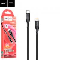 USB кабель Hoco DU02 Max PD Type-C - Lightning 1m черный