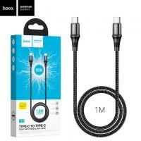 USB кабель Hoco X50 Type-C - Type-C 1m черный