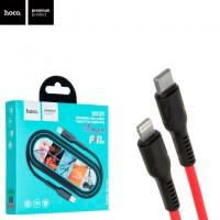 USB кабель Hoco DX21 Type-C - Lightning 1m красный