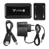 USB Hub 7 PORT USB 2.0 + adapter black