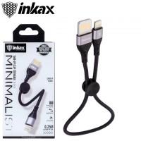 USB кабель inkax CK-95 Lightning 0.25m черный