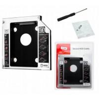 Карман для второго HDD/SSD вместо DVD привода Optibay Caddy 12.7мм
