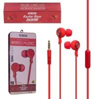 Наушники с микрофоном KARLER KR604 Упаковка 8 штук красные