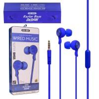 Наушники с микрофоном KARLER KR604 Упаковка 8 штук синие