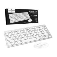 Комплект клавиатура+мышь Hoco DI05 беспроводная белая