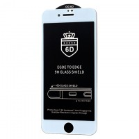 Защитное стекло 6D OG Crown Apple iPhone 6 white