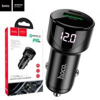 Автомобильное зарядное устройство Hoco Z42 PD 20W QC3.0 1USB 3.0A black