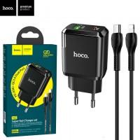 Сетевое зарядное устройство Hoco N5 PD 20W QC3.0 1USB 3.0A Type-C - Lightning black