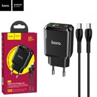 Сетевое зарядное устройство Hoco N5 PD 20W QC3.0 1USB 3.0A Type-C - Type-C black