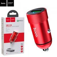 Автомобильное зарядное устройство Hoco Z32 QC3.0 1USB 18W 3.0A red