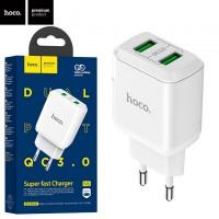 Сетевое зарядное устройство Hoco N6 QC3.0 2USB 3.0A white