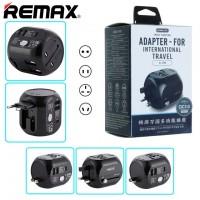 Сетевое зарядное устройство универсальное Remax RL-EP08 UK, US, AU, EU black