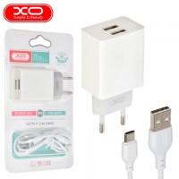 Сетевое зарядное устройство XO L65 2USB 2.4A Type-C white