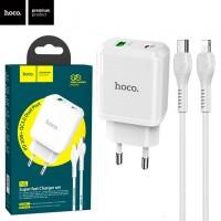 Сетевое зарядное устройство Hoco N5 PD 20W QC3.0 1USB 3.0A Type-C - Lightning white
