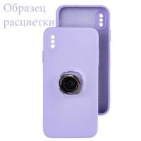 Чехол Silicone Cover Ring 3в1 iPhone XR сиреневый