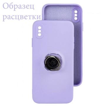 Чехол Silicone Cover Ring 3в1 iPhone 12 Mini сиреневый в Одессе