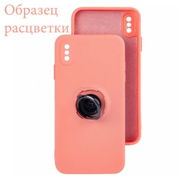 Чехол Silicone Cover Ring 3в1 iPhone X, iPhone XS коралловый в Одессе