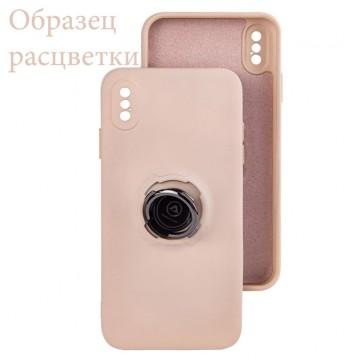 Чехол Silicone Cover Ring 3в1 iPhone 12 Pro бледно-розовый в Одессе