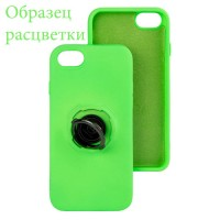 Чехол Silicone Cover Ring 3в1 iPhone XR салатовый