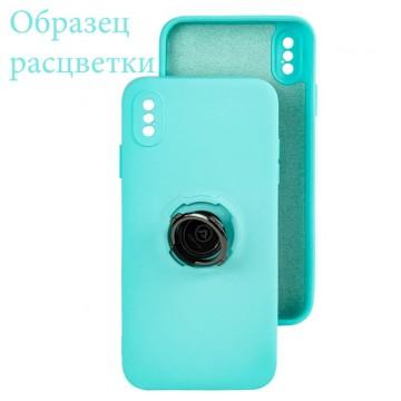 Чехол Silicone Cover Ring 3в1 iPhone 11 Pro Max бирюзовый в Одессе
