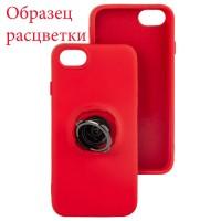 Чехол Silicone Cover Ring 3в1 iPhone XR красный