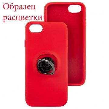 Чехол Silicone Cover Ring 3в1 iPhone 6 Plus, iPhone 7 Plus, iPhone 8 Plus красный в Одессе