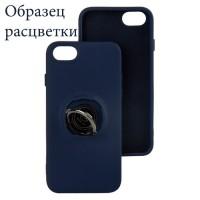 Чехол Silicone Cover Ring 3в1 iPhone XR темно-синий