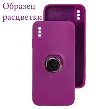 Чехол Silicone Cover Ring 3в1 iPhone XR фиолетовый в Одессе