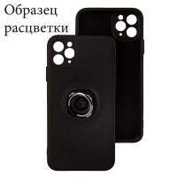 Чехол Silicone Cover Ring 3в1 iPhone XR черный