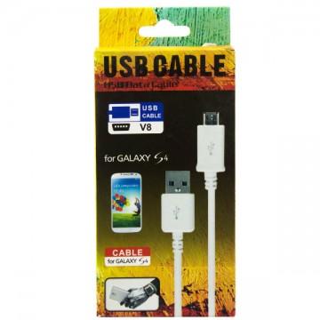USB - Micro USB шнур Galaxy Note SIII 1m черный, штекер 8mm в Одессе
