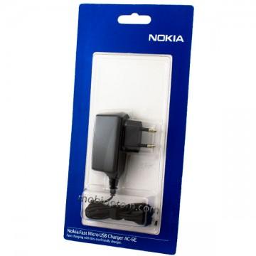 Сетевое зарядное устройство Nokia AC-6E micro-USB оригинал в блистере  в Одессе