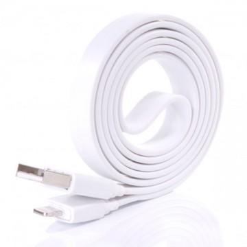 USB - Lightning шнур для iPhone 5S плоский 1m белый в Одессе
