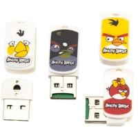 Картридер USB Card Reader CR-01 MicroSD Angry Birds