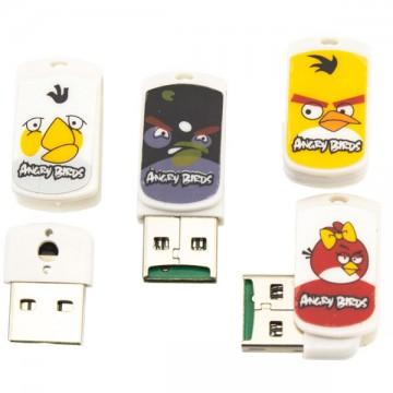 Картридер USB Card Reader CR-01 MicroSD Angry Birds в Одессе