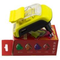 Сетевое зарядное устройство Краб Pama LCD + USB yellow
