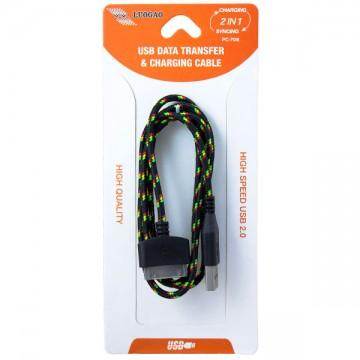 USB - Apple 30pin шнур для iPhone 4S тканевый PC-708 1m черный в Одессе