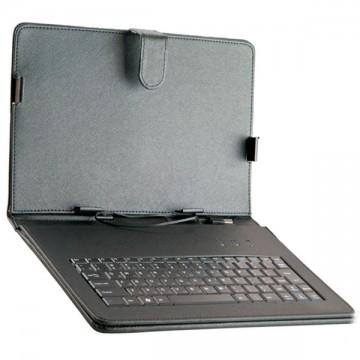 Чехол-клавиатура 10 дюймов зажимы-магнит Micro USB черный в Одессе
