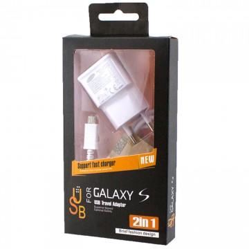 Сетевое зарядное устройство Samsung ETA-U90EWE 2in1 2.4A micro-USB white в Одессе