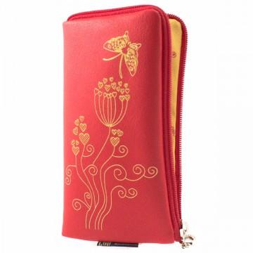 Универсальный чехол-сумка 4″ S LGD сердечко-бабочка красный в Одессе