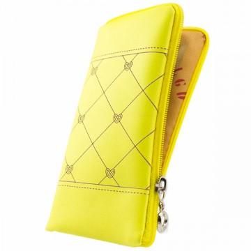 Универсальный чехол-сумка 4″ S LGD ромбик-сердечко желтый в Одессе