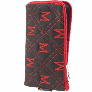 Универсальный чехол-сумка 4″ S LGD ромбик-М черно-красный в Одессе