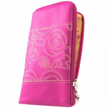 Универсальный чехол-сумка 4″ S LGD с розочкой розовый в Одессе