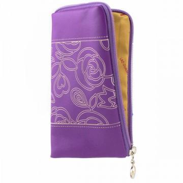 Универсальный чехол-сумка 4″ S LGD с розочкой фиолетовый в Одессе