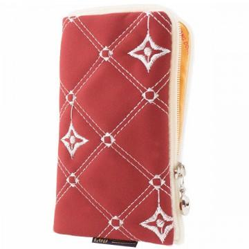 Универсальный чехол-сумка 4″ S LGD ромбик-звездочка красно-белый в Одессе