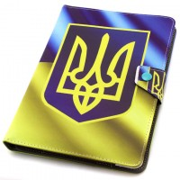 Чехол-книжка 10 дюймов уголки-магнит NEW герб Украины