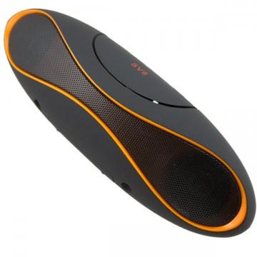 Портативная колонка S71 черная-оранжевая в Одессе