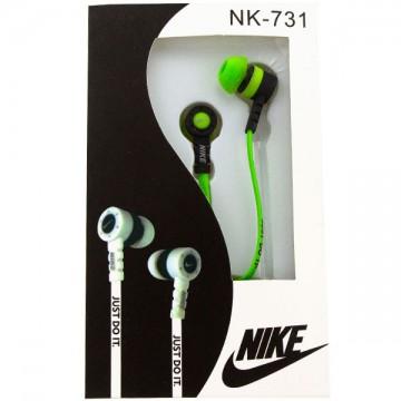 Наушники NK-731 Nike Just do it зеленые в Одессе